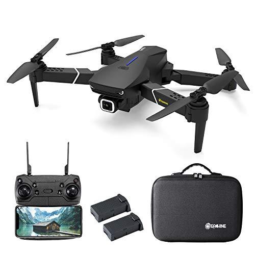 EACHINE E520S Drone con Camara HD Drone 4k Drone GPS Drones con Camaras Profesional 5G WiFi FPV App Distancia de FPV de 250 m Drone Durable de Vuelo (2 Baterias y Estuche)
