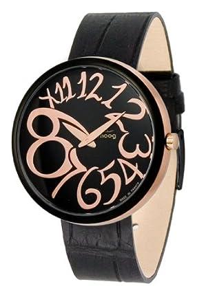 Moog Damen-Armbanduhr Analog Leder schwarz M41671-004