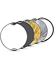 """Neewer® 5 in 1 Portable Round 43''Inch/110cm Multi Camera Lighting Reflector/Diffuser Kit with Grip and Carrying Case for Photpgraphy (43"""" Round)"""