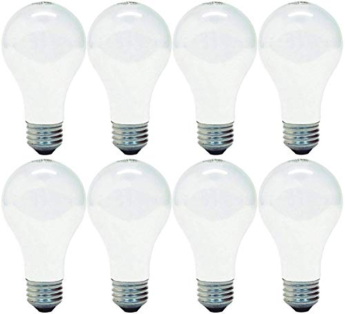 (GE Lighting 63005 Soft White 72-Watt (100-Watt Replacement) 1490-Lumen A19 Light Bulb with Medium Base, 8-Pack)
