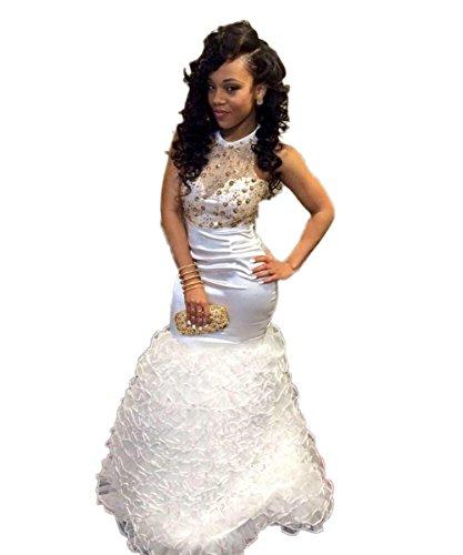 CoCogirls - Vestido - globo - para mujer blanco