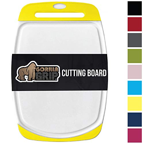 Goal Board Cutting - GORILLA GRIP Original Reversible Cutting Board, Large Size (16'' x 11.2