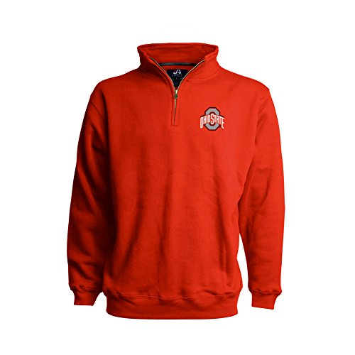 Ohio State Buckeyes Classic Quarter Zip Sweatshirt Red - M