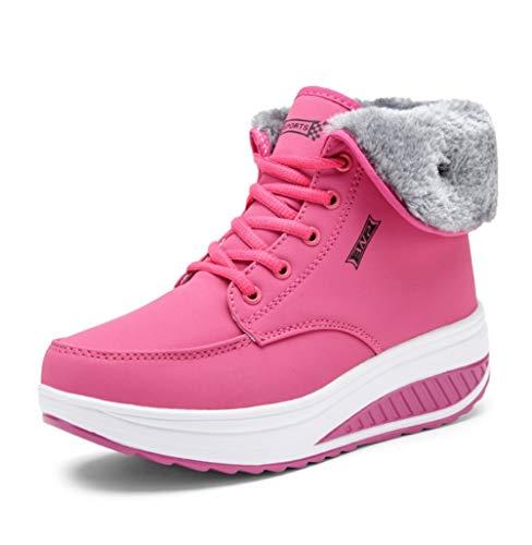 Cotone Antiscivolo Wedge Lace Heat Boots Di Womens Spesso Velluto Alto Le Liangxie Per Caldo Rosa Snow Fondo Women Scarpe New Ankle Aiutare Up Bootiewinter Plus OxBzt5wFq