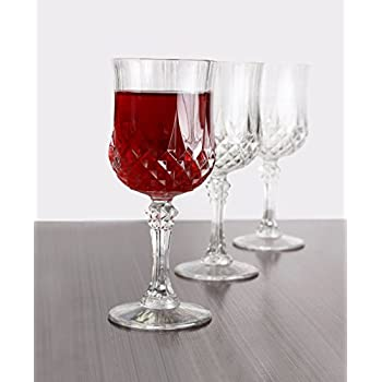 Amazon Com Set Of 4 Cut Crystal 10 Oz Acrylic Plastic