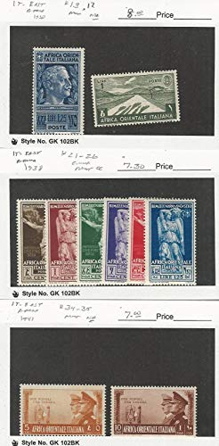 Italian East Africa, Postage Stamp, 13, 12, 34-5 Mint NH, 21-26 Hinged, JFZ