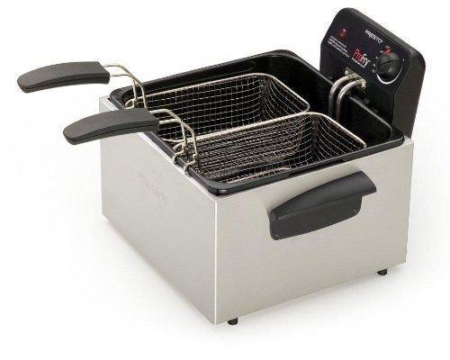 Presto 05466 Stainless Steel Dual Basket Pro Fry Immersion Element Deep Fryer ;#G344T3486G 34BG82G362539 by Jofeili