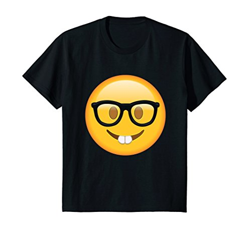 Kids Popular Nerd with Glasses T shirt Emoticon Nerdy Side Tshirt 10 - Nerd Glasses For Guys