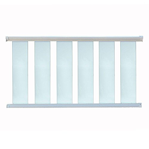 (Contractor Handrail Glass Deck Railing Kit 8 ft x 36 - White)
