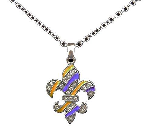 (LSU Purple & Gold Enamel Fleur de Lis 18