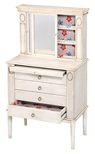 Acme Furniture 97220 Leven Jewelry Armoire, Antique White ()
