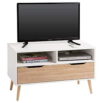 Idimex Meuble Tv Genova Banc Télé De 90 Cm Au Style Scandinave
