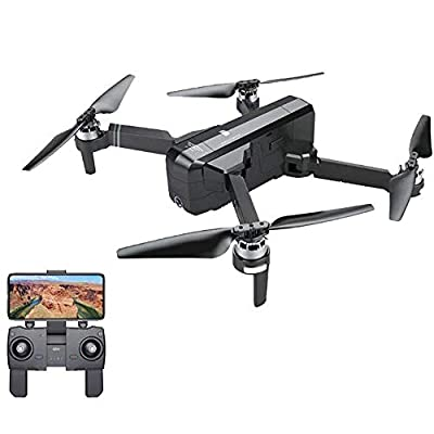 ??MChoice??New SJRC F11 GPS 5G WiFi FPV 1080P HD Cam Foldable Brushless RC Drone Quadcopter Black