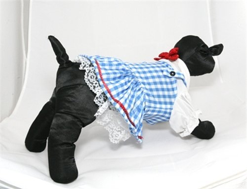 [Dorothy Pup Halloween Pet Costume Size Medium] (Peasant Halloween Costumes)