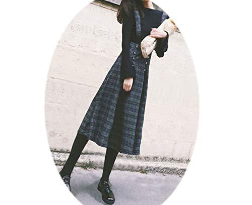 New Female Woolen Strap Dress Skirt Ulzzang High