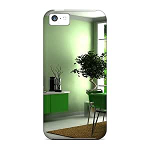 High-quality Durability Cases For Iphone 5c(3d Green Interiors)