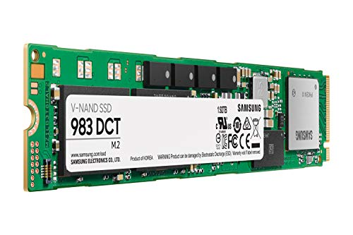 Samsung 983 DCT Series SSD 1.92TB - M.2 NVMe Interface Internal Solid State Drive with V-NAND Technology for Business (MZ-1LB1T9NE), Green