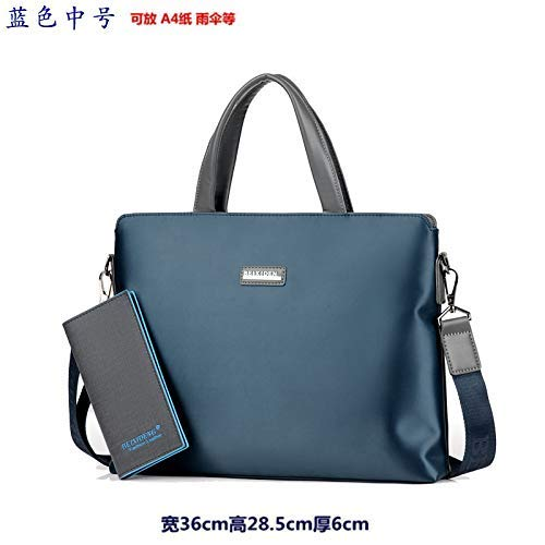 Wallet A color Borsa In Tracolla medium Da Tela Casual Classica Uomo Blue Home Con and Fortr Tessuto Wallet Uqawxnga
