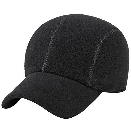 eYourlife2012 Mens Winter Thermal Polar Fleece Outdoor Sports Baseball Cap Hats with Ear Flaps