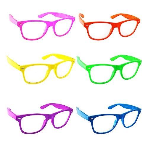 1d2626de5d9 Lot of 6 Nerd Glasses Buddy Holly Wayfarer Clear Lenses (Multi Color Frames  Clear enses) - Buy Online in UAE.