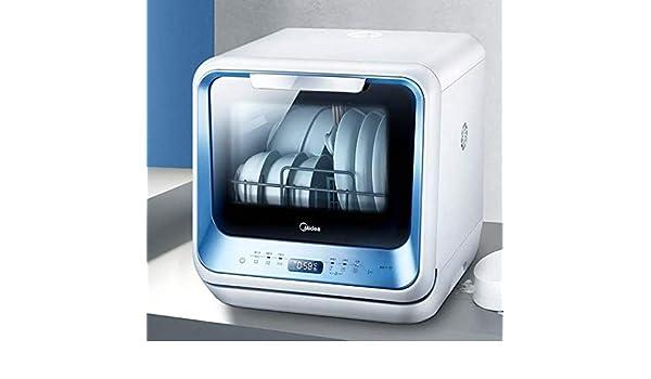 YANGSANJIN Mini lavavajillas 6 programas Pantalla LED Azul ...