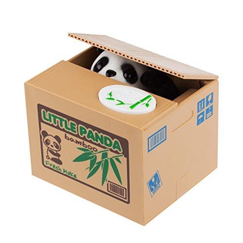LemonBest® Money Bank Piggy Bank Geld sparen Box Via Diebstahl von schönen Tier Panda