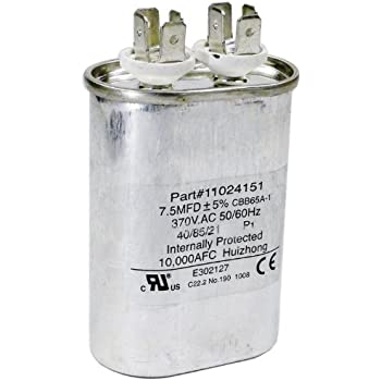 Hayward hpx11024151 7 1 2 uf fan run capacitor for Hayward sp2610x15 replacement motor