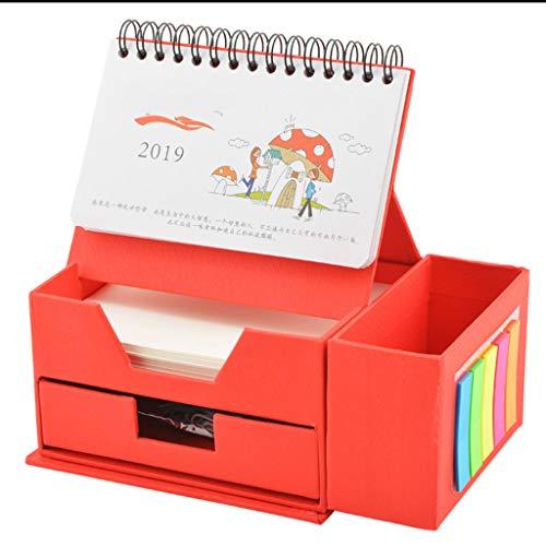 Creative 2019 Foldable Paper Room Escritorio de Escritorio Calendario multifunción Notas de Escritorio Calendario Caja de...