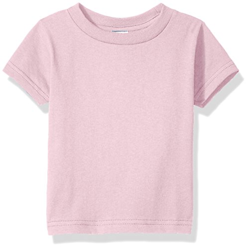 Infant T-shirt Ash - Clementine Baby Infant Soft Cotton Jersey T-Shirt, Pink, 12MOS