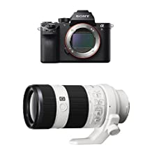 Sony ILCE7RM2/B a7R II Full-Frame Mirrorless Interchangeable Lens Camera, Body Only with Sony SEL70200G 70-200mm Interchangeable Lens for Sony Alpha Cameras bundle