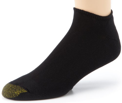 (Gold Toe Men's Cotton No Show Athletic Sock - 13-15 - Black, (6-Pack) )