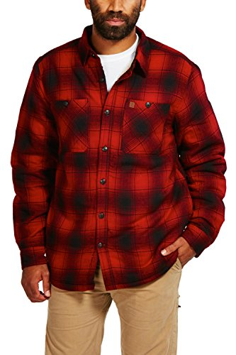 Coleman Flannel Sherpa Shirt Jacket (Large, Red (Red Flannel Jacket)