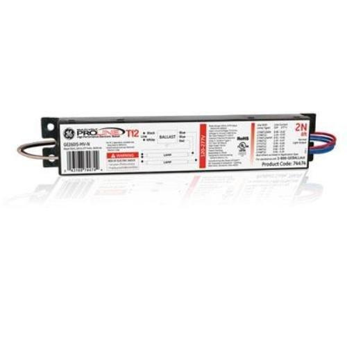(10 pack) ge lighting 74474 ge260is-mv-n 120/277-volt multi-volt proline  electronic fluorescent t12 instant start ballast 2 or 1 f96t12 to f48t12  lamps
