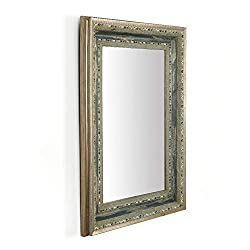 Bathroom Wall Mirror Framed with Crystal Diamonds
