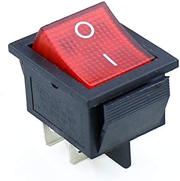 Switch ON-OFF 2 Position 4 Pins 6 Pins Electrical Equipment With Light Power