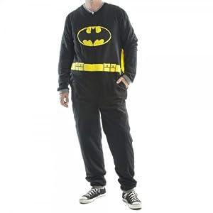 Batman Black Union Suit Mens Caped Pajama