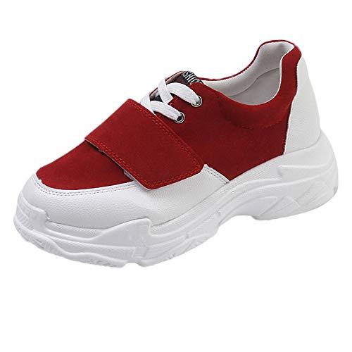 Rouge Basket Entraînement Femme Compétition Cinq Chaussures de Trail Running Course Sport OSYARD Couleurs xPq7fg0w