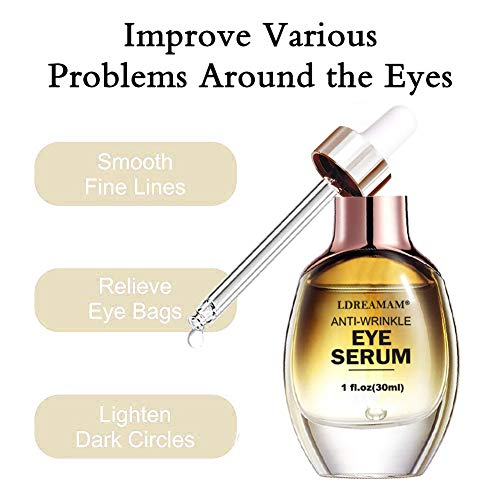 41HNh5PxdjL - Eye Serum,Under Eye Cream,Anti Wrinkle Eye Serum,Anti Ageing Eye Serum,Hydrating Eye Serum,For Dark Circles, Puffiness - Reduces Wrinkles, Bags, Saggy Skin & Puffy Eyes Great Eye Treatment