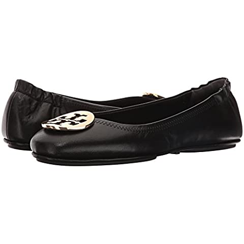 6e0d6cec76d542 Tory Burch Reva Shoes Ballet Minnie Travel Flats Soft Naplak Leather TB Logo  (7