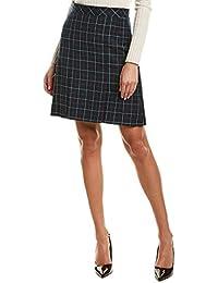 Womens Wool Mini Skirt, 16, Blue