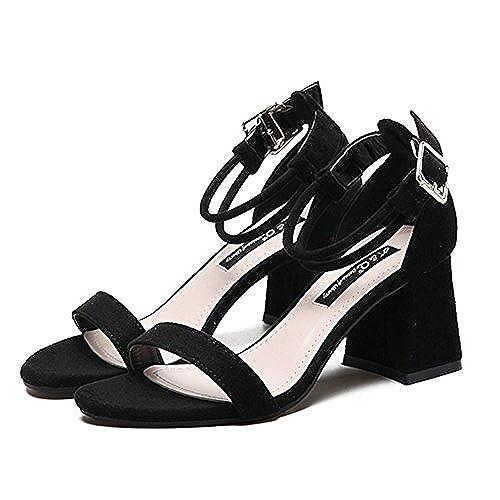 Femme Sandales Chaussures à Haut Talons Sangle de Cheville Gros Talon Bracelet Chic en Été pour Soirée Party Club Cocktail Mariage Plage cheap