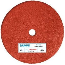 Eagle UK97836-9 inch Fibre Sanding Discs 1 Pack Grit 36 - - 2 Discs//Pack Job-Pak
