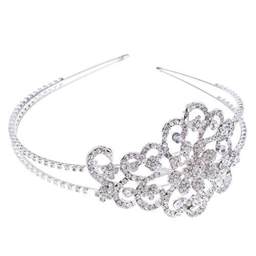 Princess Crown Tiara Girls Headband Bridal Wedding Jewelry Hair Accessories ()