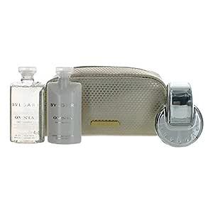 Bvlgari Omnia Crystalline By Bvlgari | 4 Piece Gift Set - 2.2 Oz Eau De Toilette Spray, 2.5 Oz Body Lotion, 2.5 Oz Bath & Shower Gel, Toiletery Bag | Fragrance For Women