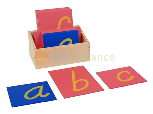 Montessori D Nealian Style Sandpaper Letters w/ Box - Style Letters