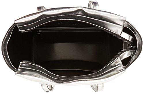 Medium B Klein 14x30x44 Metallic Centimeters Calvin Borse T Shopper H x x Tote Argento Donna Frame Monogram wgd4qEv