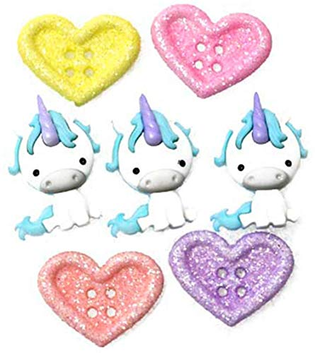 Jesse James Dress It Up Embellishments-Unicorn Love
