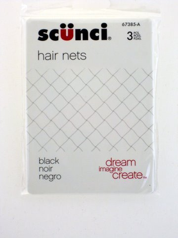 Scunci Black Hair Nets - 3 Pcs.