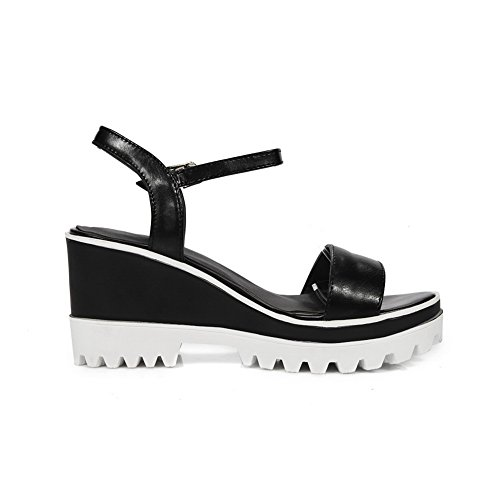 Platforms Womens Sandals Black AN Sandals Platforms Structured Urethane DIU00838 Marking Non 70dAPEq
