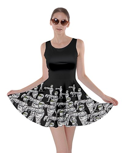 CowCow Womens Mummy Black Skater Dress, Black - 2XL -